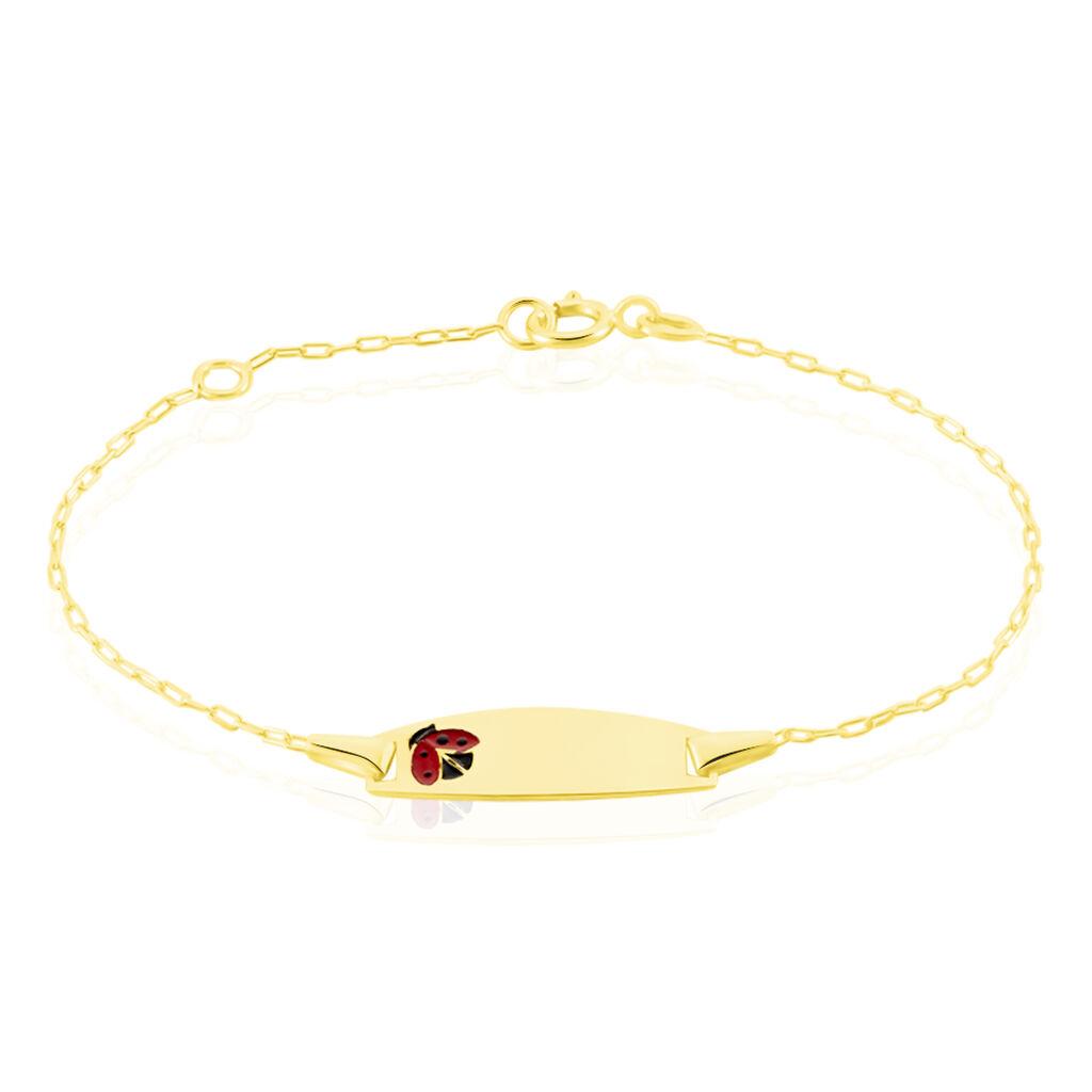 Bracelet Identité Gaspardine Maille Forçat Or Jaune - Bracelets Communion Enfant   Histoire d'Or