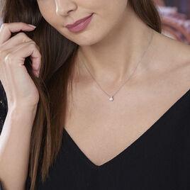 Collier Zilda Or Blanc Oxyde De Zirconium - Bijoux Femme   Histoire d'Or