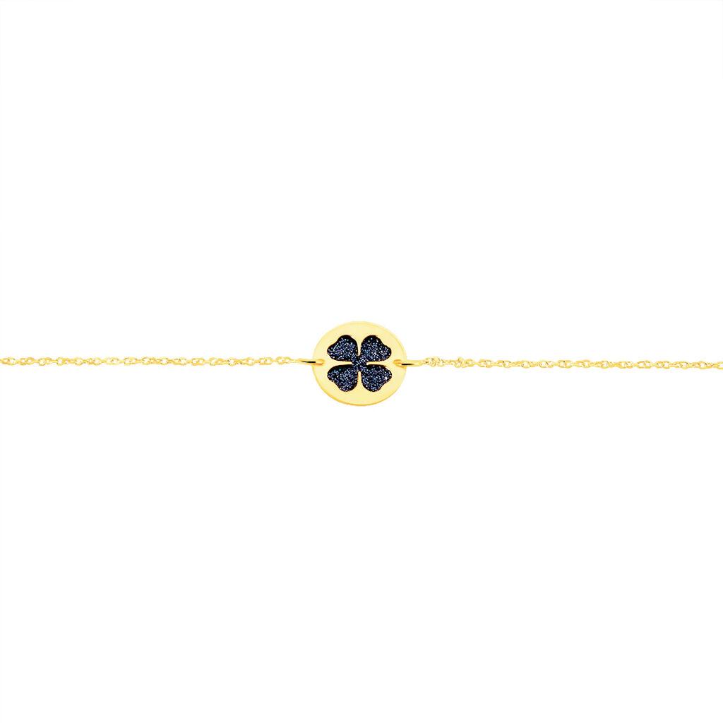 Bracelet Roxanne Or Jaune - Bracelets Trèfle Femme   Histoire d'Or