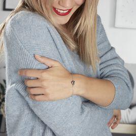 Bracelet Sumeyra Argent Blanc Céramique - Bracelets Coeur Femme | Histoire d'Or