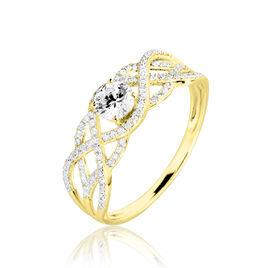 Bague Solitaire Liora Or Jaune Diamant - Bagues solitaires Femme | Histoire d'Or
