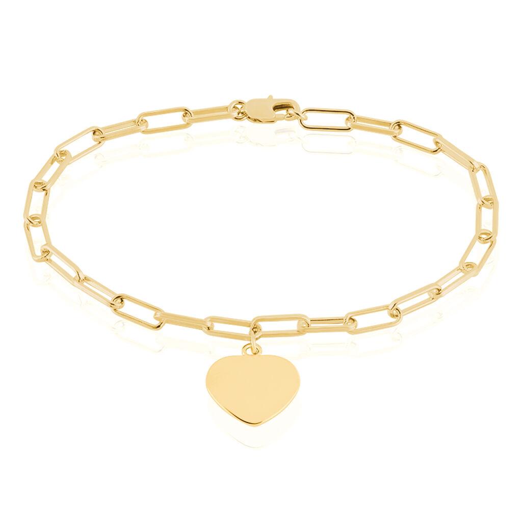 Bracelet Neala Plaque Or Jaune - Bracelets Coeur Femme | Histoire d'Or