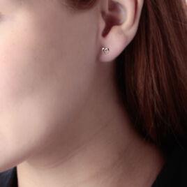 Boucles D'oreilles Or Jaune Puces Cœurs - Boucles d'Oreilles Coeur Femme | Histoire d'Or