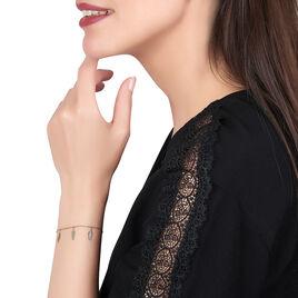 Bracelet Indian Nature Feuilles Or Jaune - Bracelets Plume Femme   Histoire d'Or