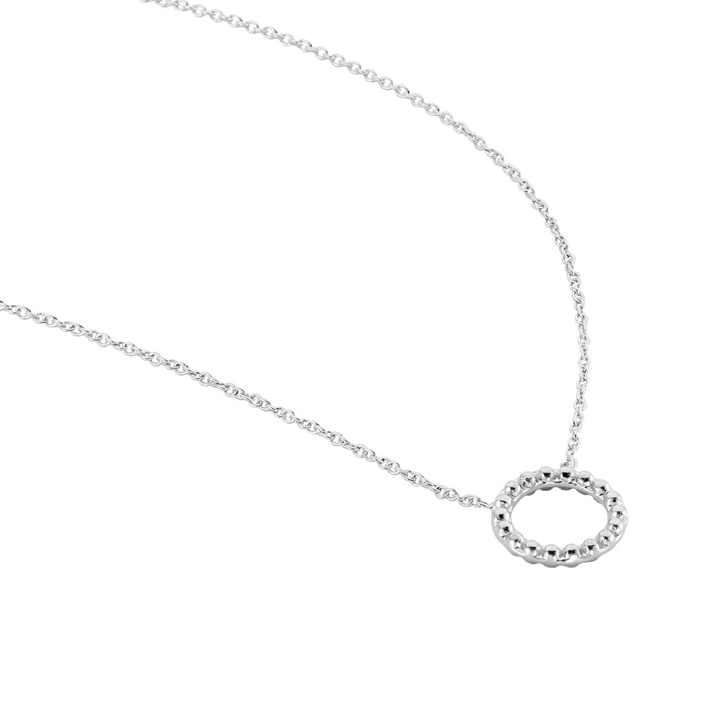 Collier Peytone Argent Blanc