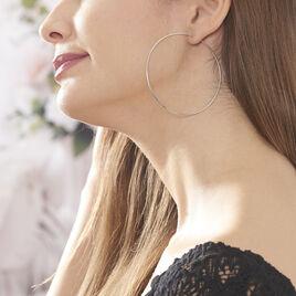 Creoles Argent E Flexible - Boucles d'oreilles créoles Femme | Histoire d'Or