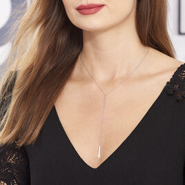 Collier Katell Argent Blanc - Colliers fantaisie Femme | Histoire d'Or