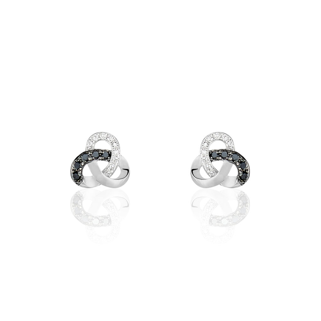 Boucles D'oreilles Puces Constellation Or Blanc Diamant