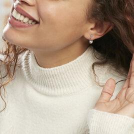 Boucles D'oreilles Pendantes Phaenna Or Blanc Oxyde De Zirconium - Boucles d'oreilles pendantes Femme   Histoire d'Or