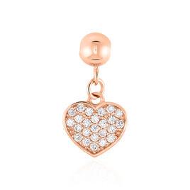 Charms Jennin Or Rose Oxyde De Zirconium - Pendentifs Coeur Femme | Histoire d'Or
