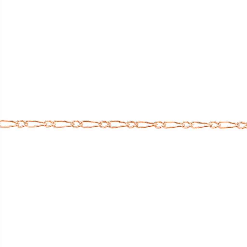 Bracelet Ophelio Maille Alternee 1/1 Or Rose - Bracelets chaîne Femme   Histoire d'Or