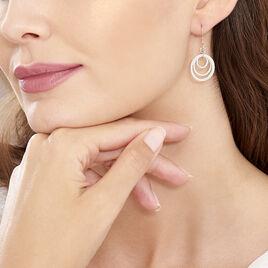 Boucles D'oreilles Pendantes Lilia Argent Blanc - Boucles d'oreilles fantaisie Femme | Histoire d'Or