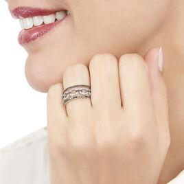 Bague Maela Or Blanc Diamant - Bagues avec pierre Femme   Histoire d'Or