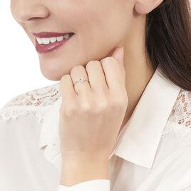 Bague Emilia Or Blanc Diamant - Bagues Trèfle Femme | Histoire d'Or
