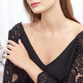 Collier Tea Argent Blanc Oxyde De Zirconium - Colliers fantaisie Femme   Histoire d'Or