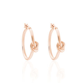 Créoles Bahar Argent Rose - Boucles d'oreilles créoles Unisexe | Histoire d'Or