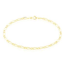 Bracelet Ophelio Maille Alternee 1/1 Or Jaune - Bracelets chaîne Femme | Histoire d'Or