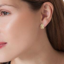 Boucles D'oreilles Puces Leopoldine Or Jaune Diamant - Clous d'oreilles Femme | Histoire d'Or