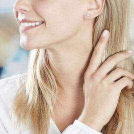 Boucles D'oreilles Pendantes Edia Feuille Or Jaune Oxyde De Zirconium - Boucles d'Oreilles Etoile Femme | Histoire d'Or