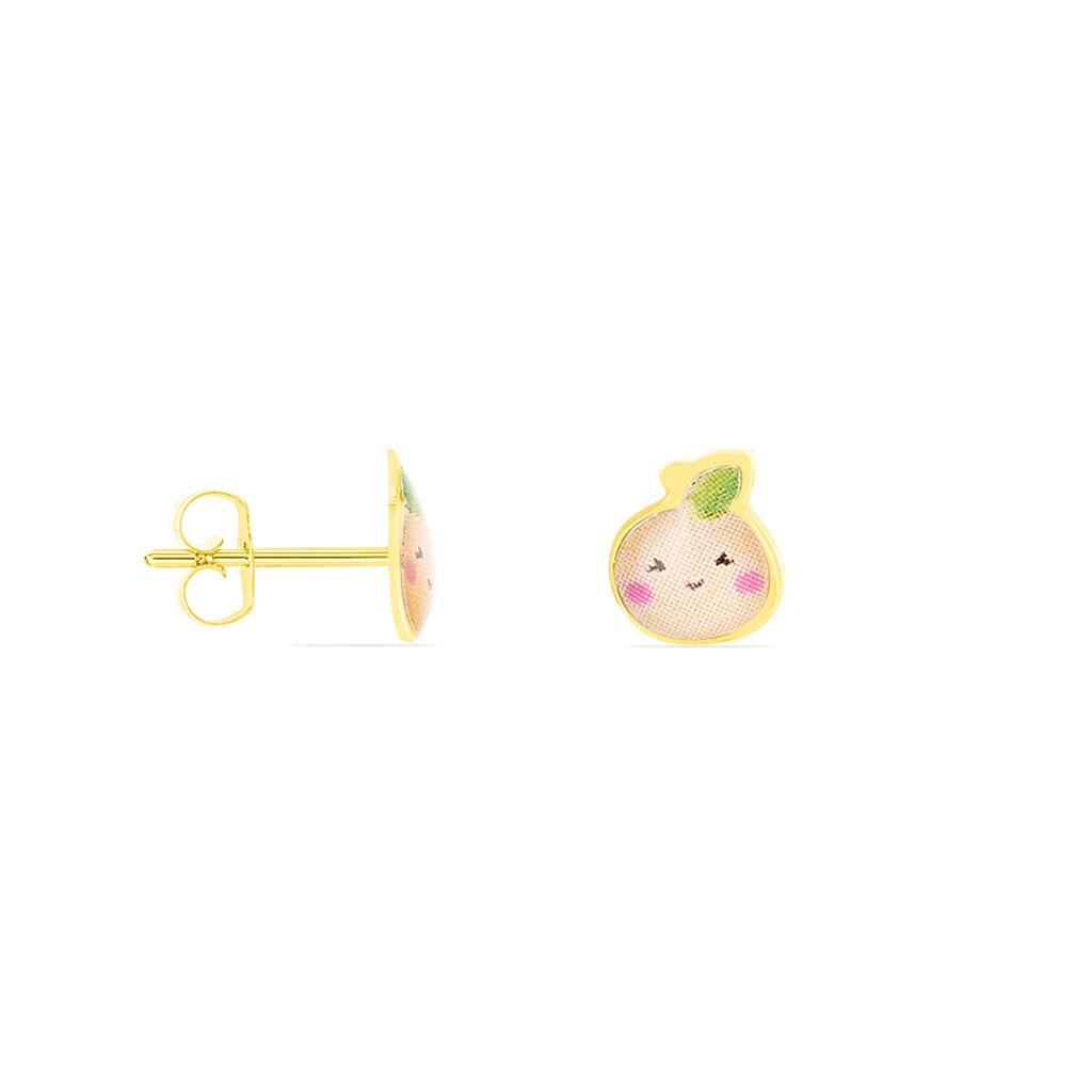 Boucles D'oreilles Puces Armande Or Jaune - Baptême Enfant | Histoire d'Or