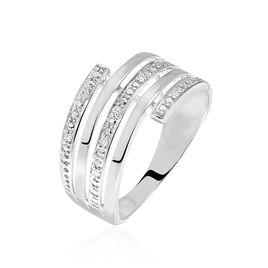 Bague Eleonore Or Blanc Diamant - Bagues avec pierre Femme | Histoire d'Or