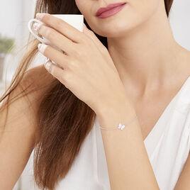 Bracelet Hervelina Argent Blanc Oxyde De Zirconium - Bracelets Papillon Femme | Histoire d'Or