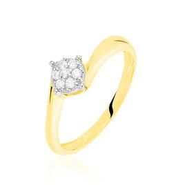 Bague Solitaire Lysia Or Jaune Diamant - Bagues solitaires Femme   Histoire d'Or