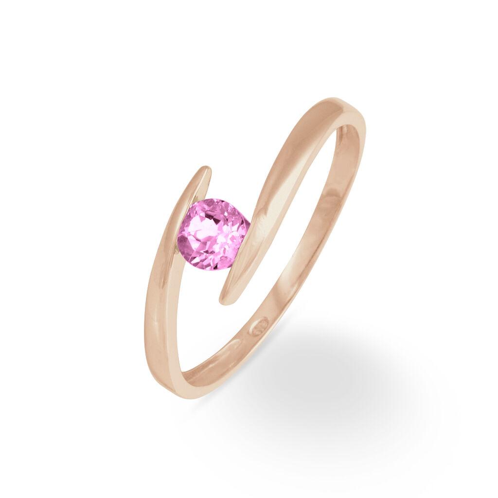 Bague Tiphaine Or Rose Tourmaline - Bagues avec pierre Femme   Histoire d'Or