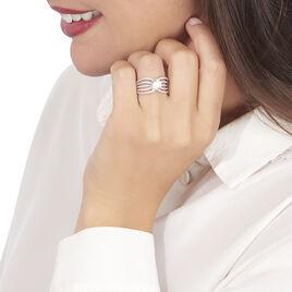 Bague Lizzie Or Blanc Oxyde De Zirconium - Bagues avec pierre Femme | Histoire d'Or