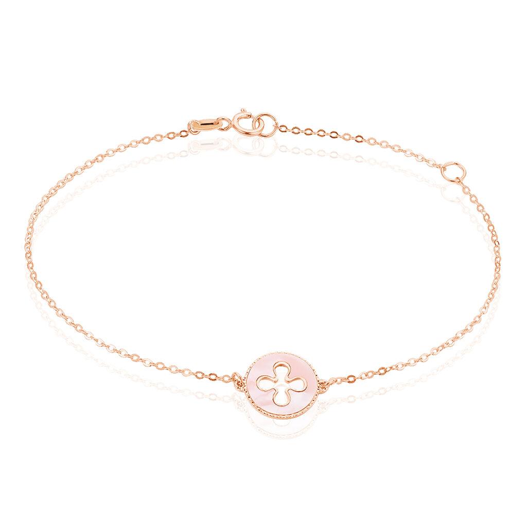 Bracelet Or Rose Nacre - Bracelets Trèfle Femme | Histoire d'Or