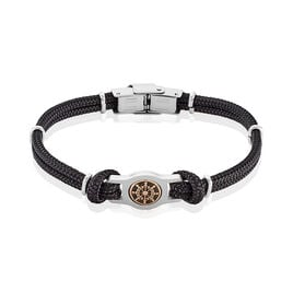 Bracelet Paulette Acier Blanc - Bracelets cordon Homme   Histoire d'Or