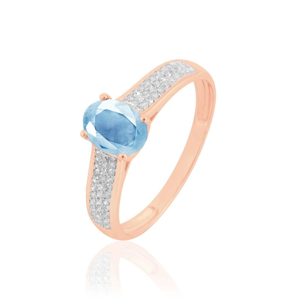 Bague Crista Or Rose Topaze Et Diamant - Bagues avec pierre Femme | Histoire d'Or
