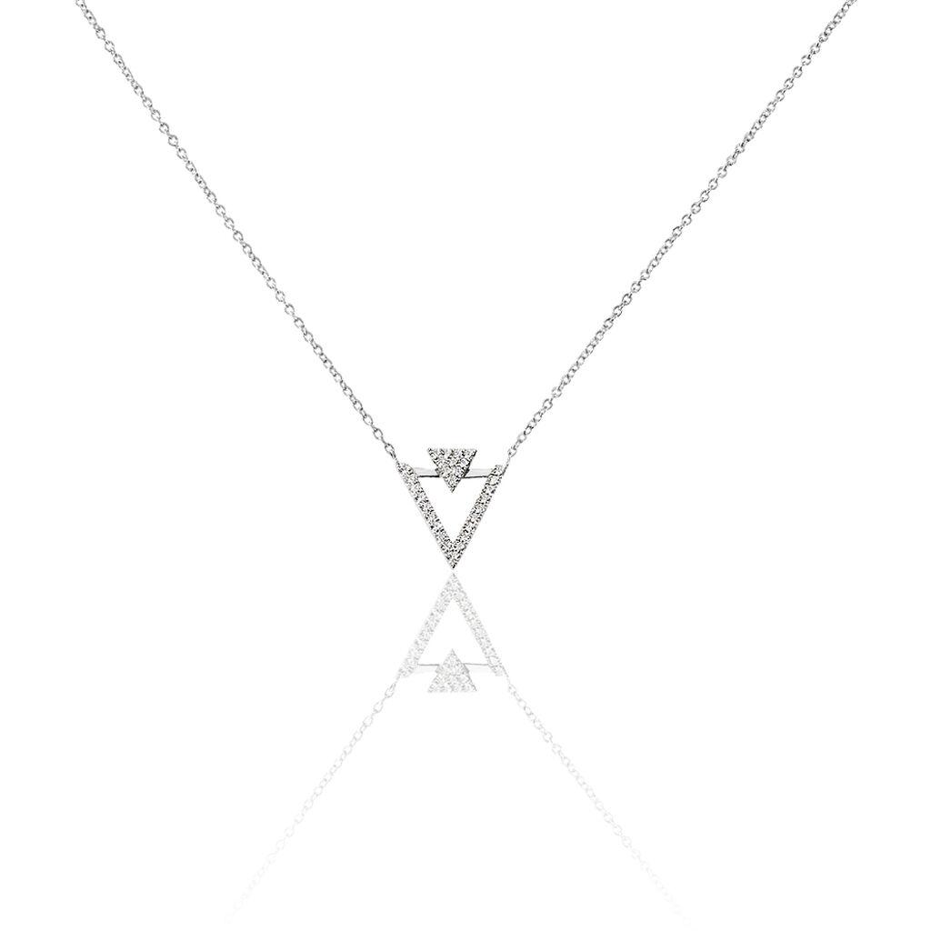 Collier Domnika Argent Blanc Oxyde De Zirconium - Colliers fantaisie Femme | Histoire d'Or