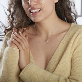 Collier Ingerid Or Blanc Diamant - Colliers Coeur Femme | Histoire d'Or