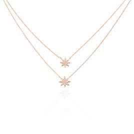 Collier Izabella Argent Rose Oxyde De Zirconium - Colliers Etoile Femme   Histoire d'Or