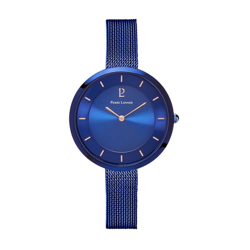 Montre Pierre Lannier Elegance Cristal Bleu - Montres tendances Femme | Histoire d'Or