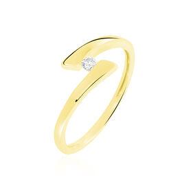 Bague Solitaire Vinca Or Jaune Diamant - Bagues avec pierre Femme | Histoire d'Or