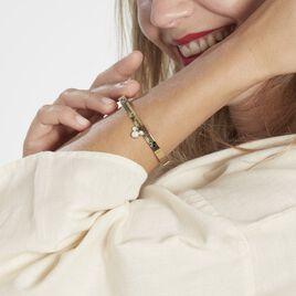 Bracelet Jonc Disney Acier Doré Cristaux - Bracelets fantaisie Femme   Histoire d'Or