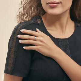 Bague April Or Blanc Oxyde De Zirconium - Bagues solitaires Femme   Histoire d'Or