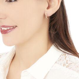 Créoles Lisa Or Rose Diamant - Boucles d'oreilles créoles Femme | Histoire d'Or