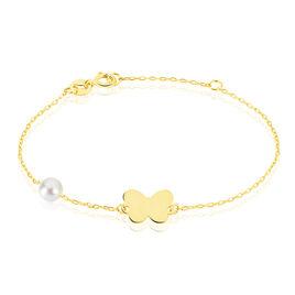 Bracelet Or Papillon Perle De Culture - Bracelets Naissance Enfant | Histoire d'Or