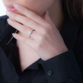 Bague Julia Or Blanc Diamant - Bagues avec pierre Femme   Histoire d'Or
