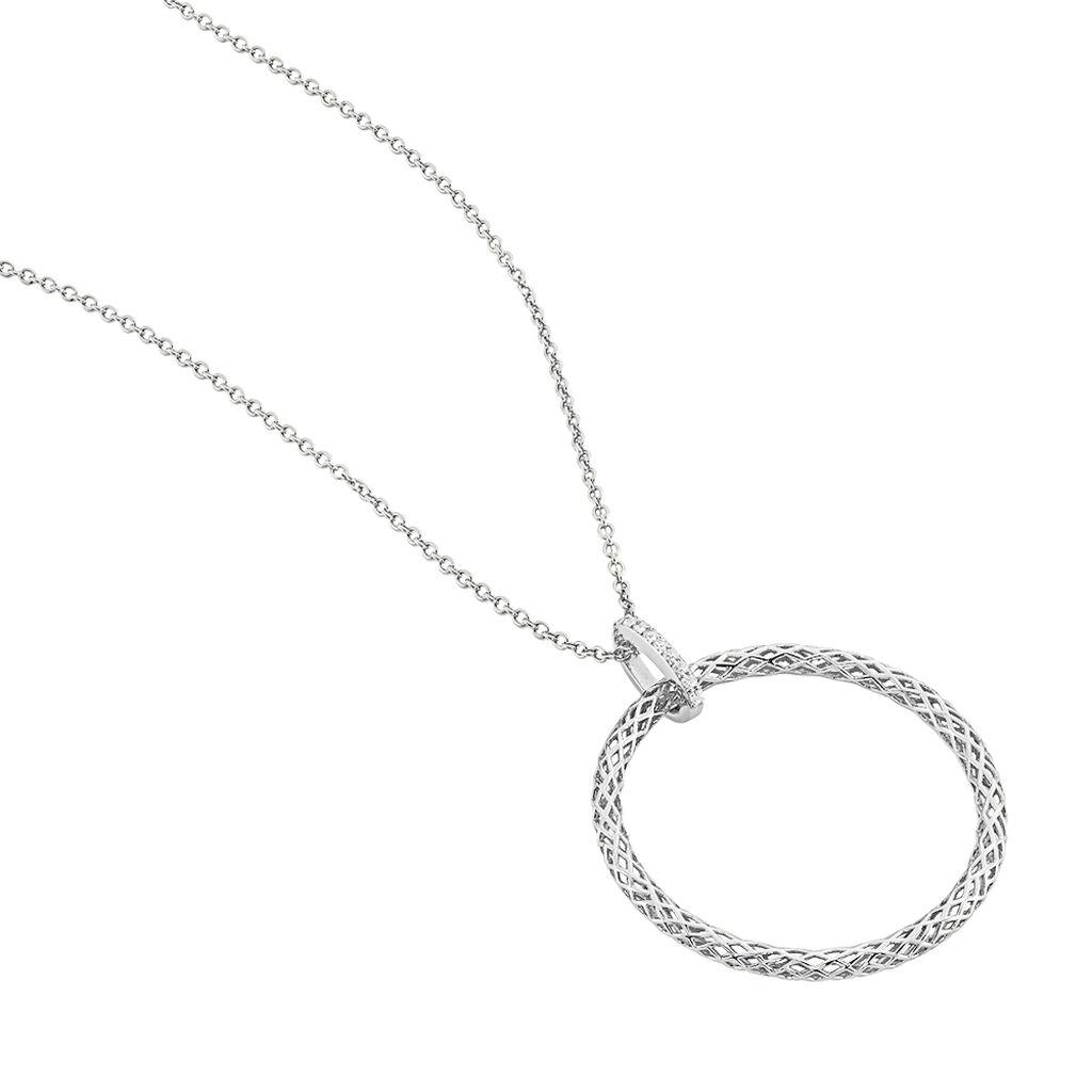 Collier Sautoir Sowa Argent Blanc Oxyde De Zirconium - Colliers fantaisie Femme   Histoire d'Or
