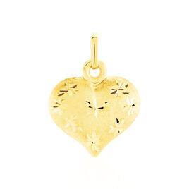 Pendentif Eudocie Coeur Mat Et Brillant Or Jaune - Pendentifs Coeur Femme   Histoire d'Or