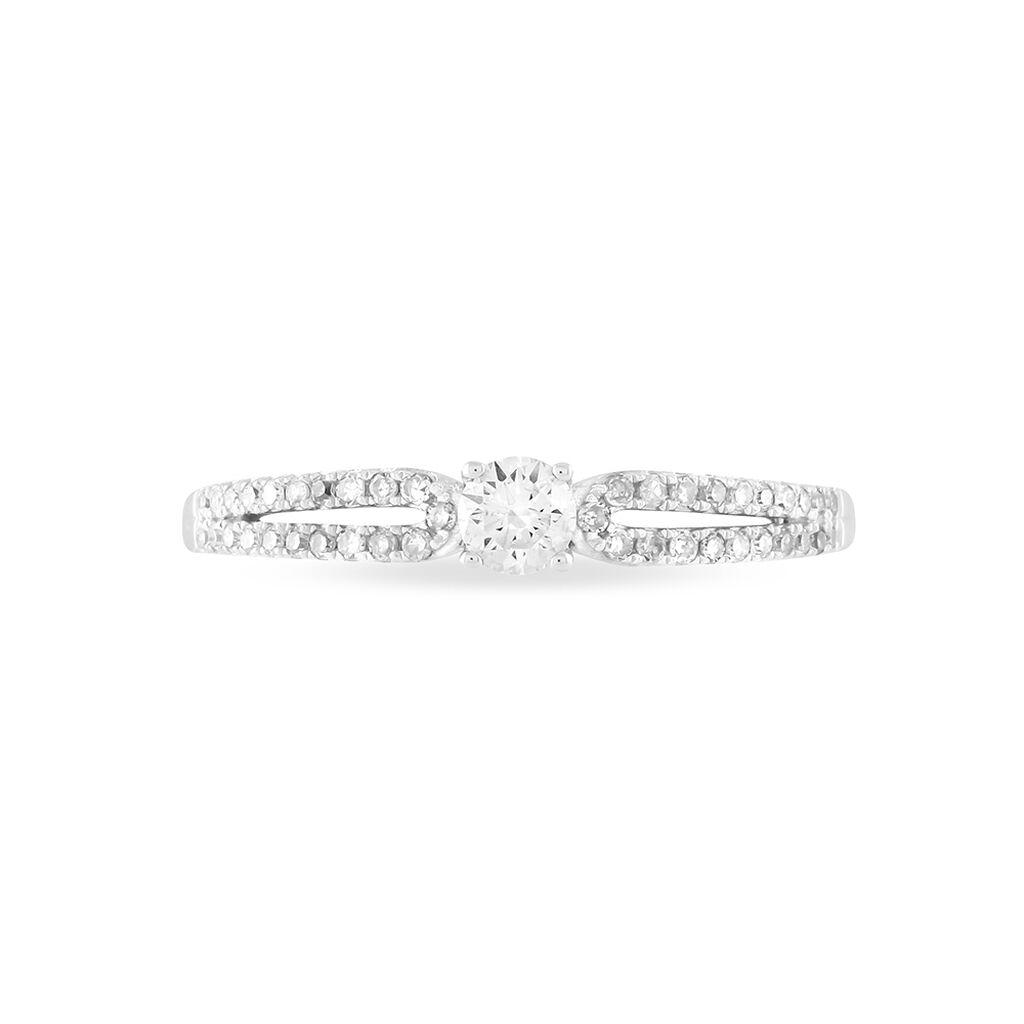 Bague Solitaire Katalina Or Blanc Diamant - Bagues avec pierre Femme | Histoire d'Or