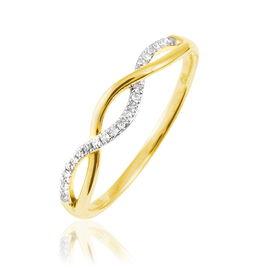 Bague Tilly Or Jaune Diamant - Bagues avec pierre Femme   Histoire d'Or