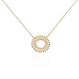 Collier Cilla Plaque Or Jaune Pierre De Synthese - Bijoux Femme | Histoire d'Or
