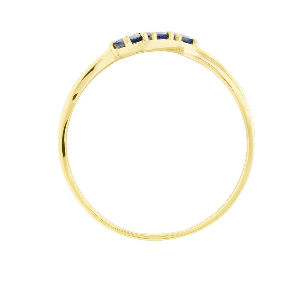 Bague Simma Or Jaune Saphir Et Diamant - Bagues avec pierre Femme   Histoire d'Or