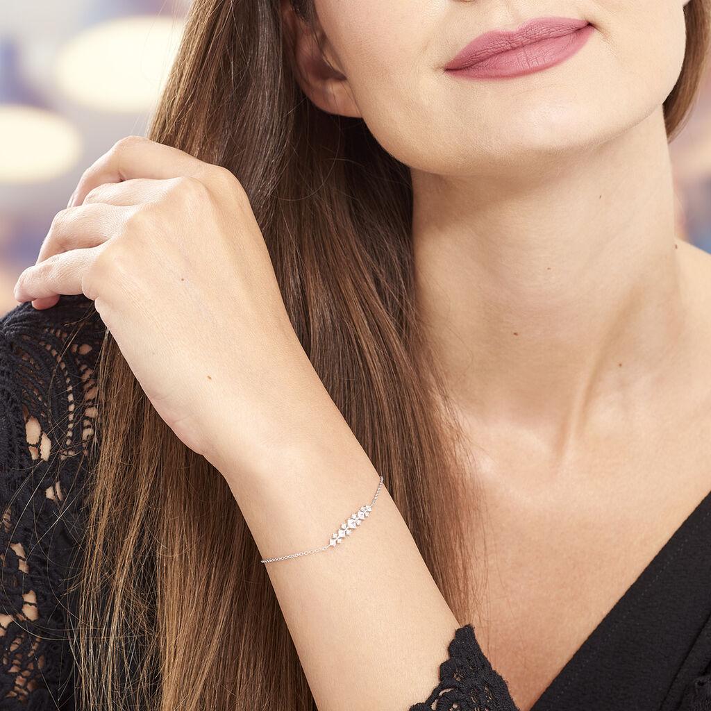 Bracelet Monique Argent Blanc Oxyde De Zirconium - Bracelets fantaisie Femme   Histoire d'Or