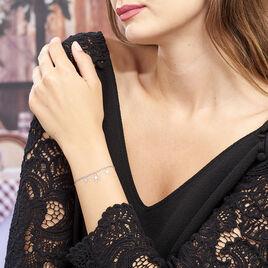 Bracelet Nedira Argent Blanc - Bracelets Trèfle Femme | Histoire d'Or